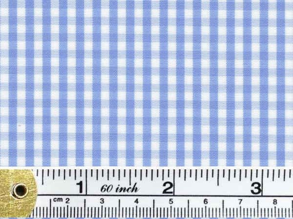 King HH sky check fabric