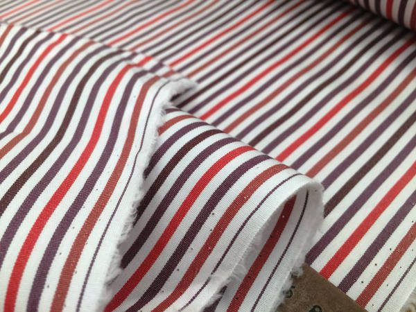 King NJ red striped Fabric