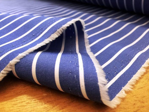 King TF blue Striped Fabric