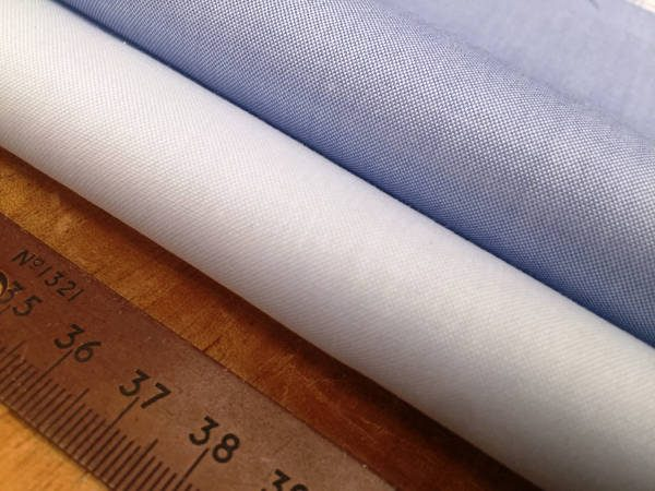 Pinpoint plain blue solid fabric