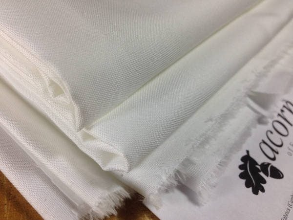 Pinpoint classic white solid fabric