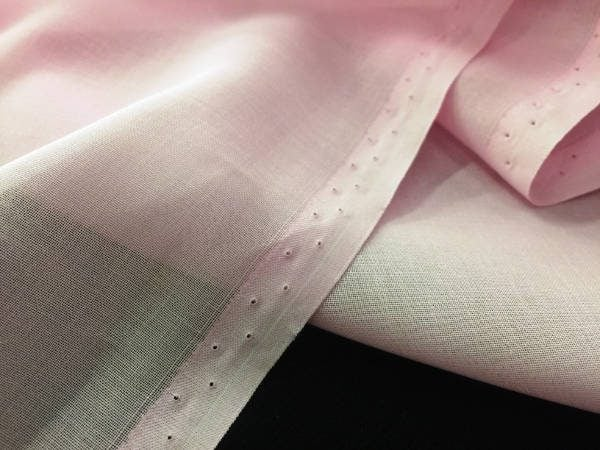 Voile plain pink solid fabric