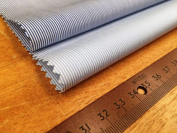 Windsor GE Sky Striped Fabric