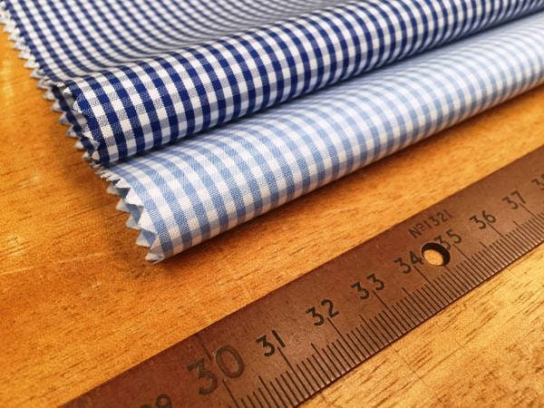 Windsor GH Sky checked Fabric