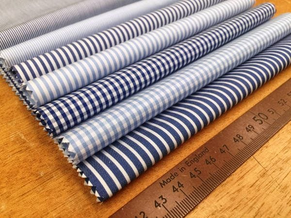 Windsor GF Navy Striped Fabric