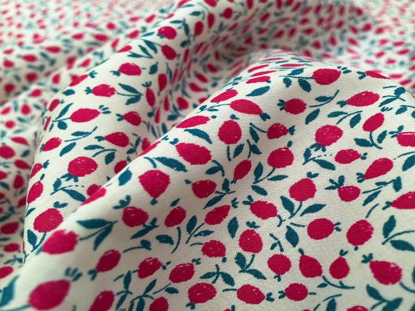 Devonshire 01 cherry printed fabric