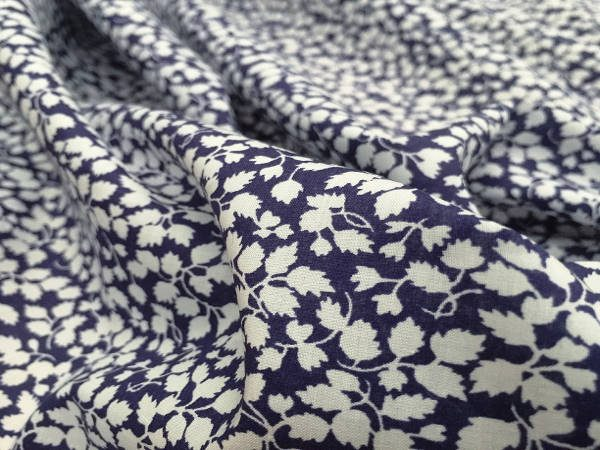 Devonshire 02 blue printed fabric