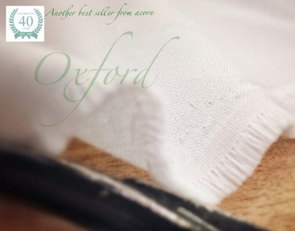Oxford plain white fabric