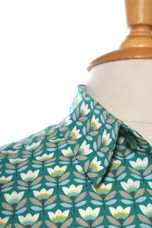 Elegant men's shirt pattern