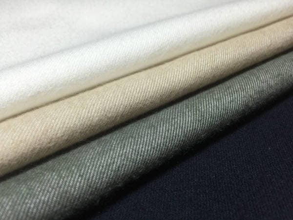 Sterling plain cream brushed cotton fabric
