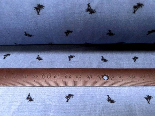 Hampton 405 blue printed fabric