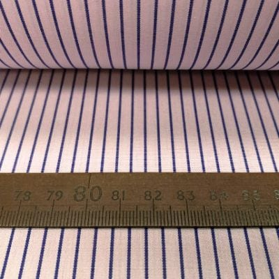 King DJ pink striped fabric