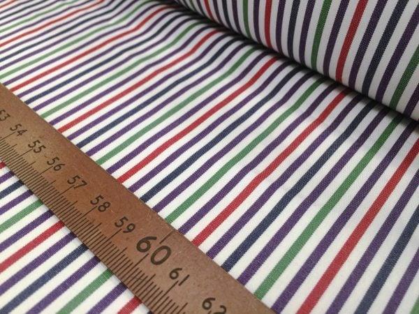 King NJ green striped fabric