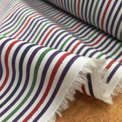 King NJ green striped fabric
