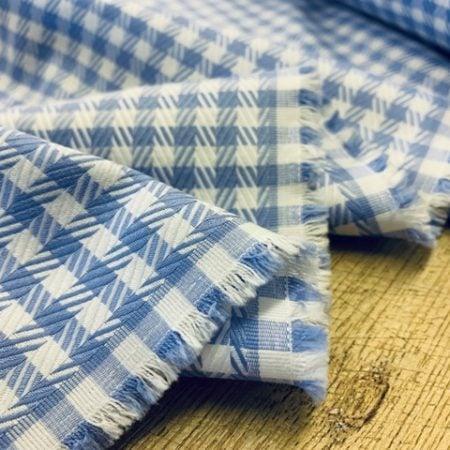 Balmoral 98 Sky Check Fabric