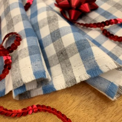 *Fife 99 Baby Blue Check Fabric