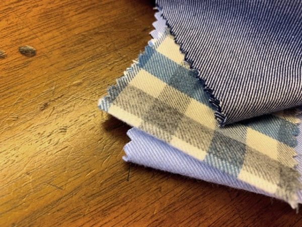 Fife 99 Blue Check Fabric