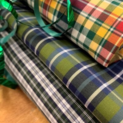 *Hampton 133 Spruce green check fabric