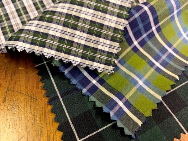 Hampton 133 green check fabric