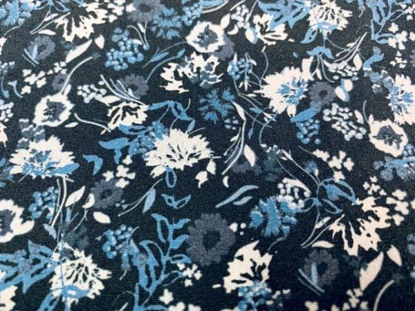 Hampton 406 blue printed fabric