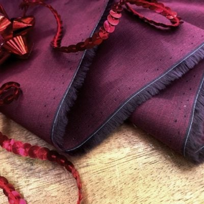 *King EE cranberry solid fabric