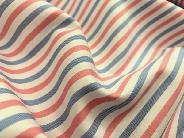 King HO Pink Striped Fabric