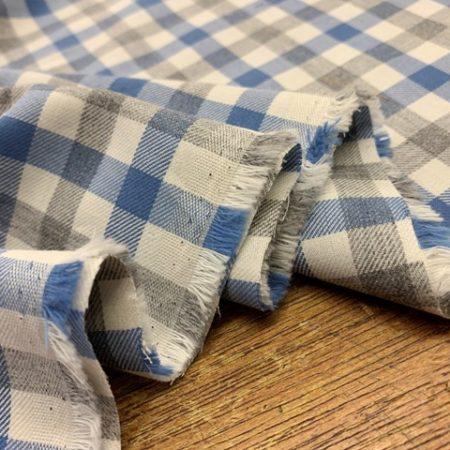 Fife 99 Blue Check Fabric