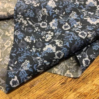 Hampton 406 blue printed fabric