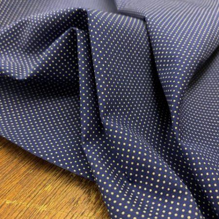 Hampton 409 Navy printed fabric