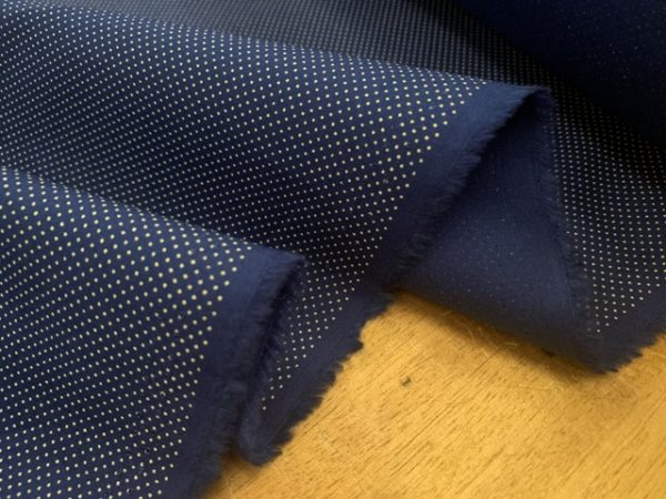 Hampton 409 Navy printed fabric