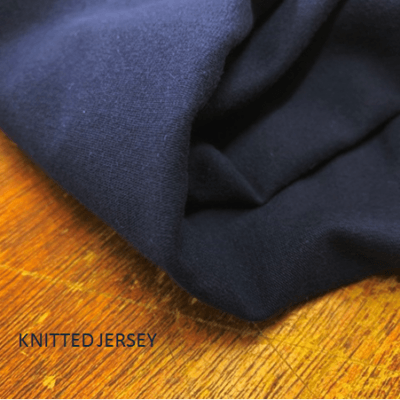 Jersey plain navy solid fabric