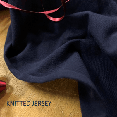 *Jersey silent night plain navy solid fabric
