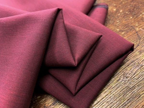 King EE cranberry solid fabric