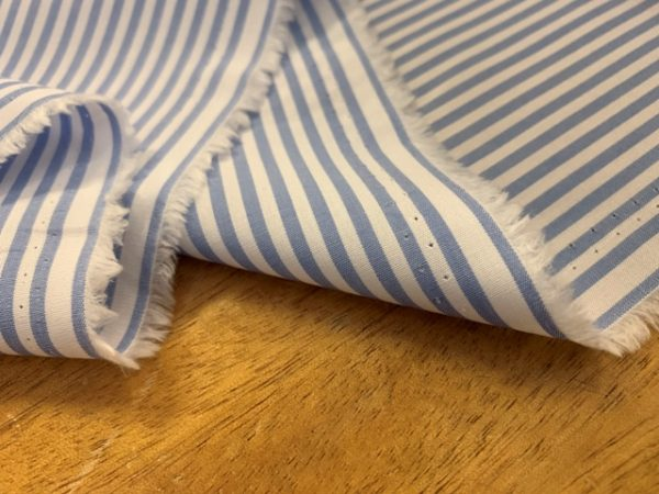 Noble 12 Sky cotton & tencel striped fabric