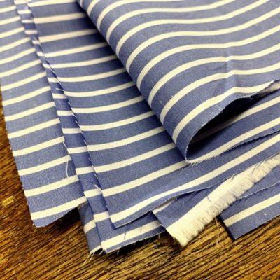 Windermere 16 blue striped fabric