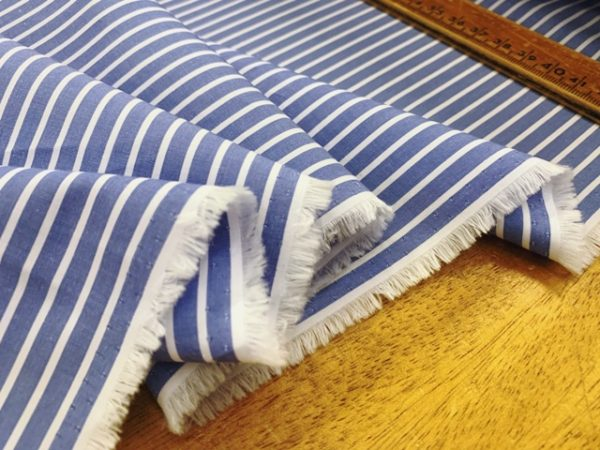 King FJ blue striped fabric