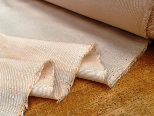 Aruba Plain Peach Cotton & Linen Fabric