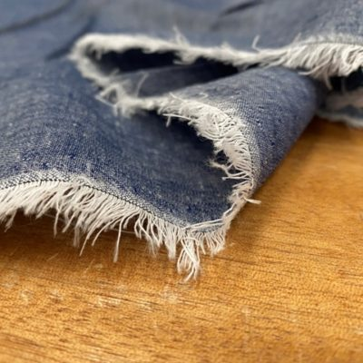 Aruba Denim Blue Cotton & Linen Fabric