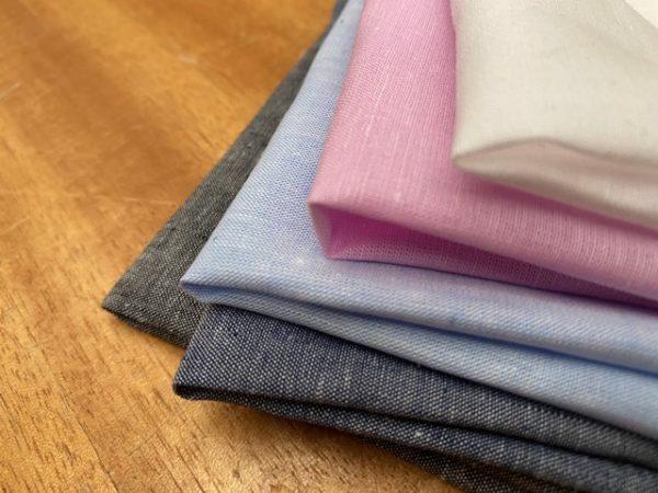 Aruba Denim Blue Cotton & Linen Fabric