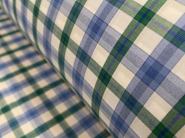 Hampton 142 green check fabric