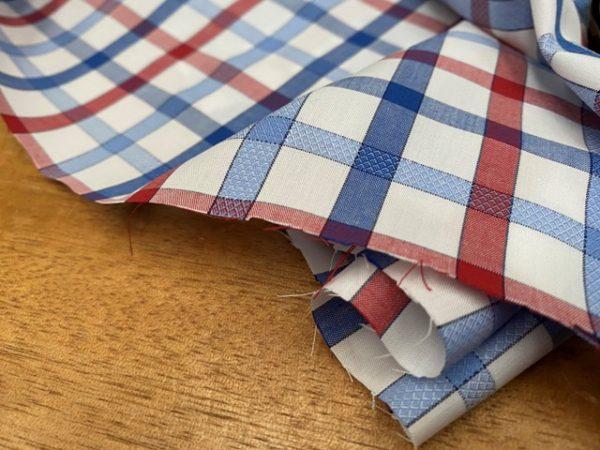 Hampton 157 red check fabric