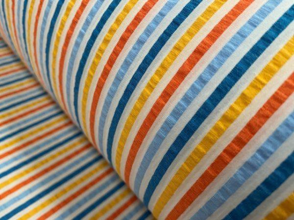 Nasau 32 yellow seersucker striped fabric