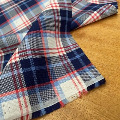 Royal oxford 49 red check fabric