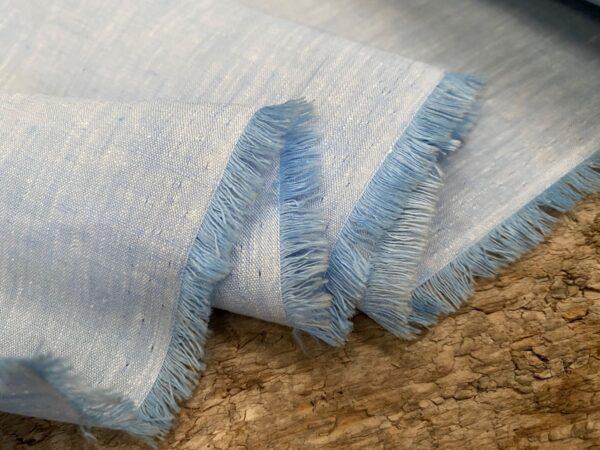 Aruba Powder Blue Cotton & Linen Fabric