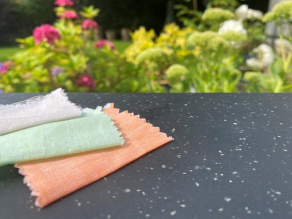 Aruba Plain Orange Cotton & Linen Fabric