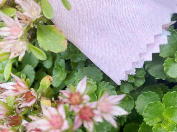 Aruba Plain Pink Cotton & Linen Fabric