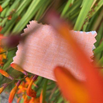 Aruba Plain Orange Cotton & Linen Fabric