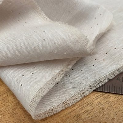 Aruba Plain Sand Cotton & Linen Fabric