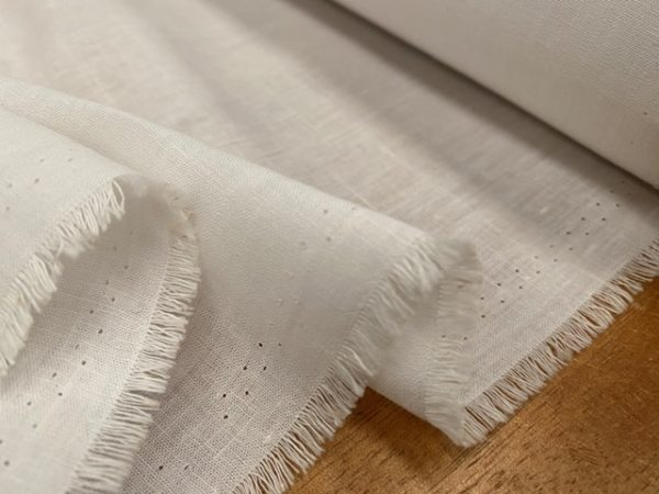 Aruba Plain Cream Cotton & Linen Fabric