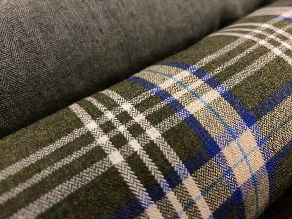 Fife 16 Green brushed fabric